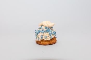 Opgespoten koekje groot blauw
