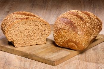 Volkoren vloer sesam brood