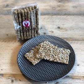 Koolhydraatarme crackers met zonnepit